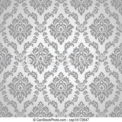 Eps vector de papel pintado seamless damasco seamless damasco papel csp14172647 - Papel pintado damasco ...