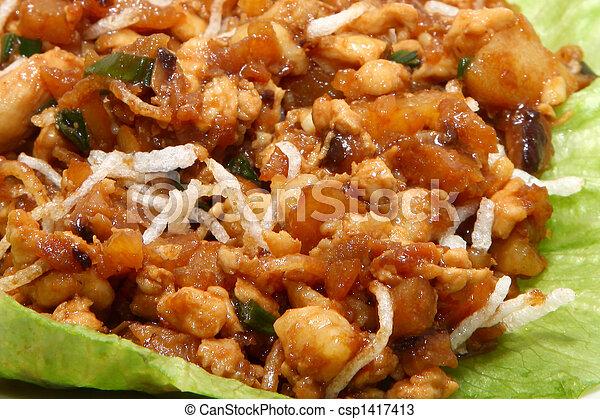 Asian Chicken Wrap - csp1417413