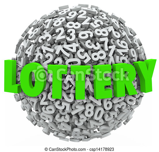Lottery Word Number Ball Sphere Gambling Jackpot - csp14178923