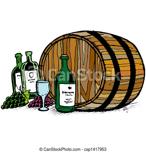Wine barrel - csp1417953