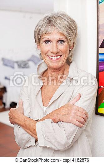 Smiling old woman - csp14182876