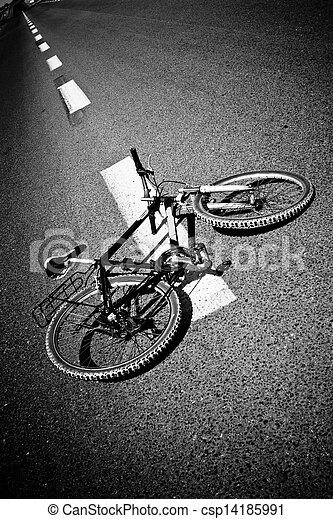 Bicycle on Road - csp14185991