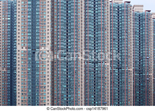 Hong Kong residential building  - csp14187961