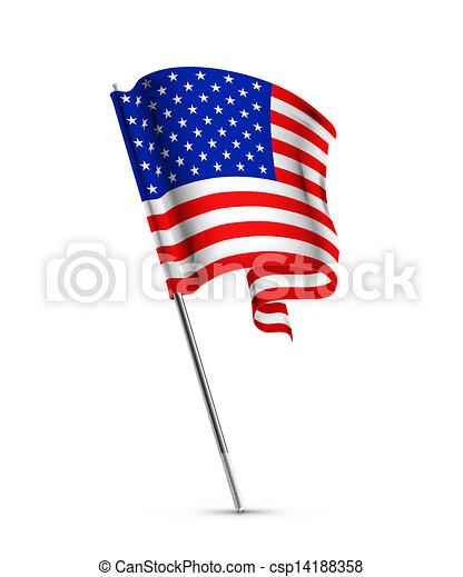 bandera estadounidense - csp14188358