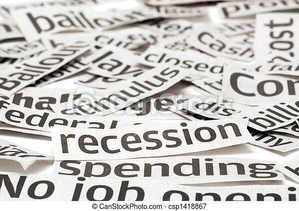 Recession Headlines - csp1418867