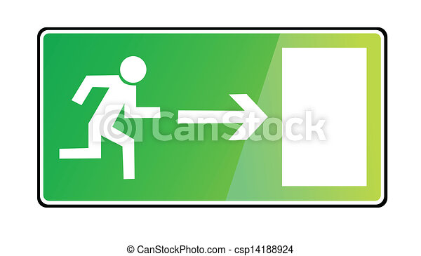 EMERGENCY EXIT SIGN - csp14188924