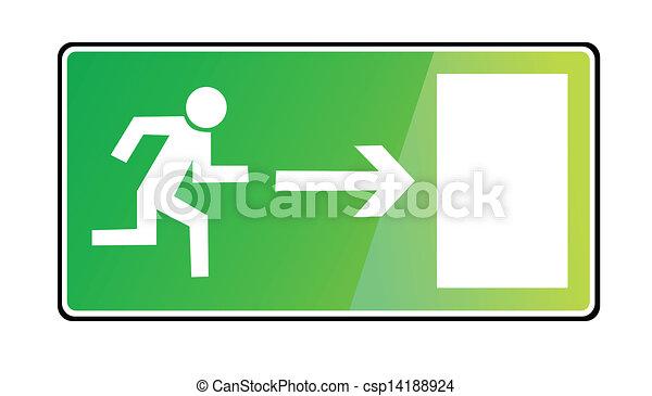 EMERGENCY EXIT SIGN - csp14188924