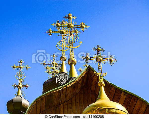 ortodox church crosses - csp14190208