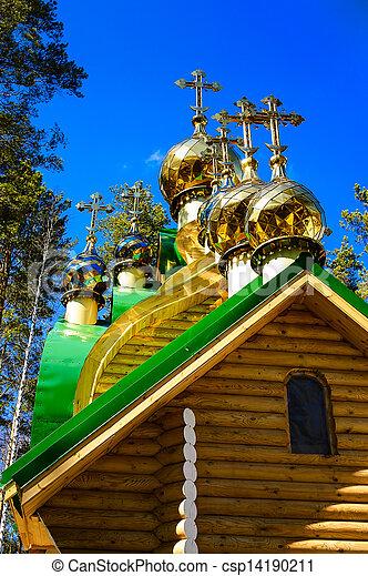 ortodox church crosses - csp14190211