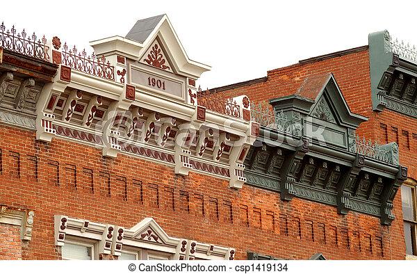 Classic Small Town Architecture - csp1419134