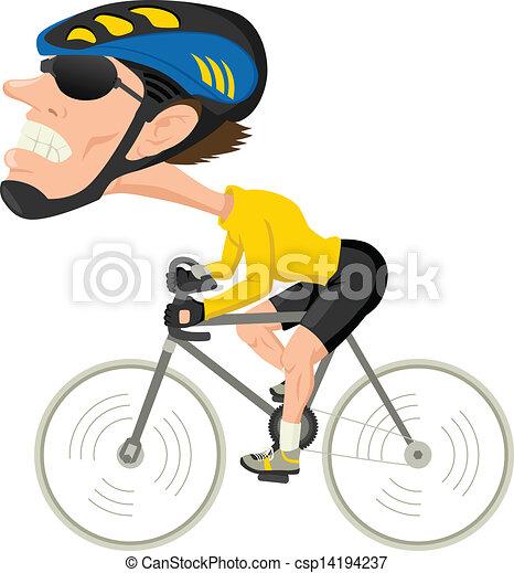 Vectores de bicicleta, Atleta - caricatura, Ilustración, bicicleta ...