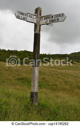 Original rural signpost, Barbados.  - csp14195262