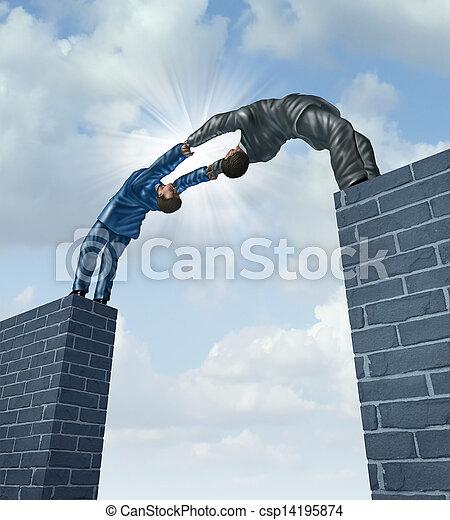 Building A Bridge - csp14195874