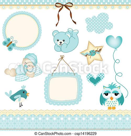 Baby boy design elements - csp14196229