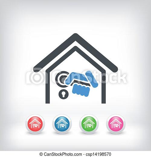 Home door handle icon vector instant download csp14198570 - Door handle clipart ...