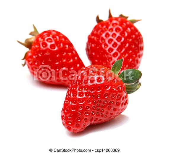 Strawberry fruit isolated on white background - csp14200069
