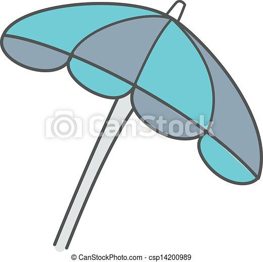 Vektor von sonnenschirm a sonnenschirm csp14200989 - Dessin parasol ...