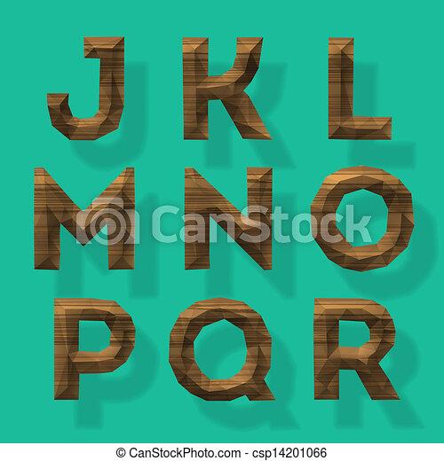 Wooden polygonal alphabet, part 2 - csp14201066