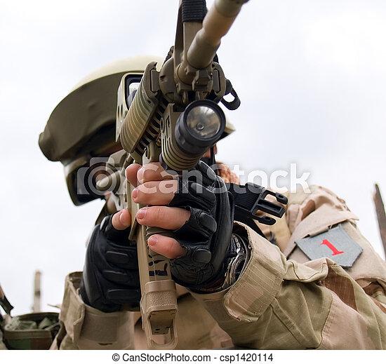 US Soldier - csp1420114