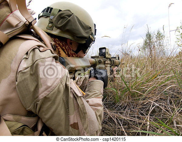 US Marine In Action - csp1420115