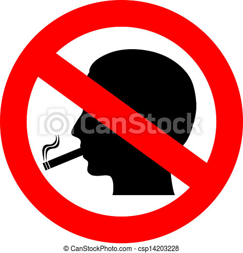 Vector Illustration Of No Smoking Vector Sign Isolated On