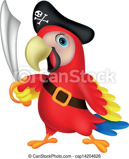 vecteur mignon  perroquet  pirate  dessin anim u00e9 banque Pirate Ship Clip Art Pirate Ship Clip Art