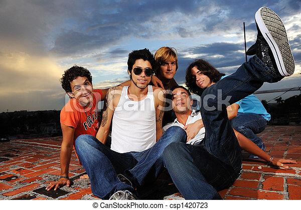Cool trendy group - csp1420723