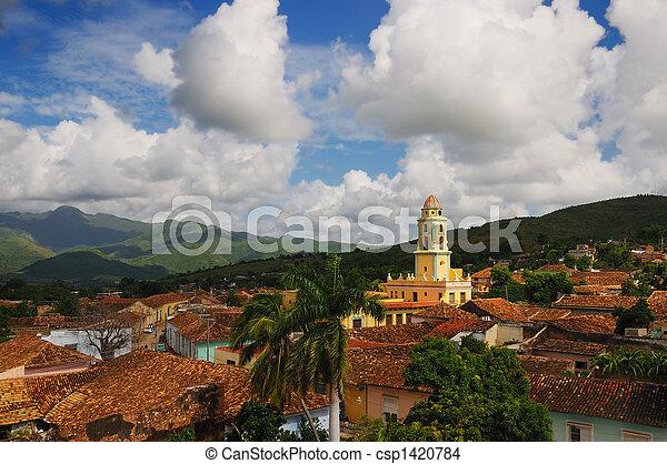 Trinidad cityscape, cuba - csp1420784