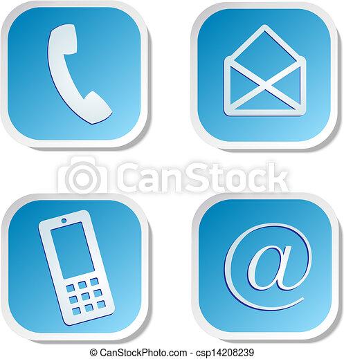 contact us sticker - csp14208239