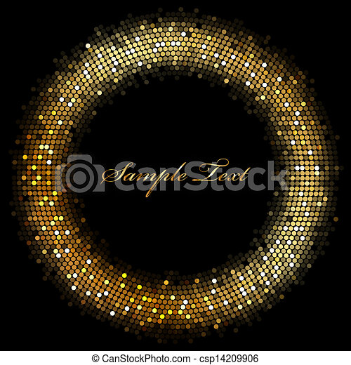 Gold Sparkles Clipart Frame With Gold Sparkles