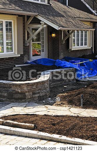 Landscaping work in progress - csp1421123