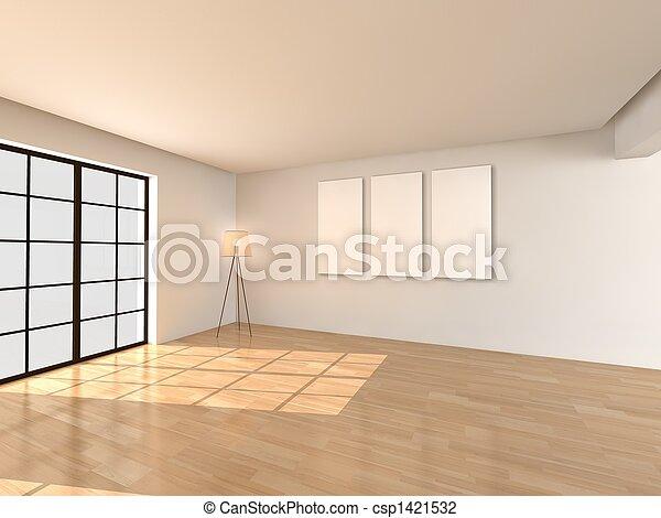 interior, living room, architecture - csp1421532