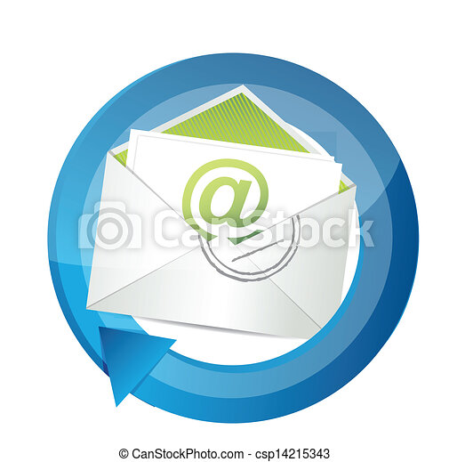 email communication cycle illustration - csp14215343