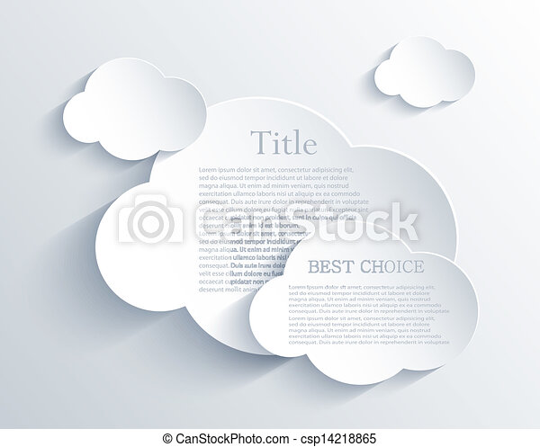 Vector cloud design element with place for your text. Eps10 - csp14218865