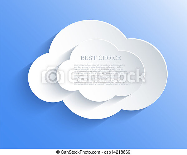 Vector cloud design element with place for your text. Eps10 - csp14218869
