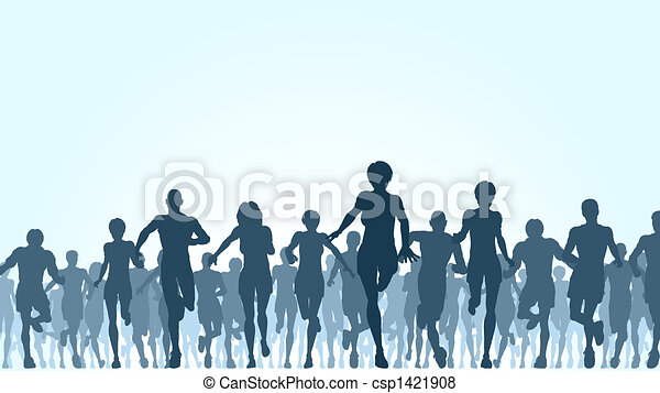 Running crowd - csp1421908