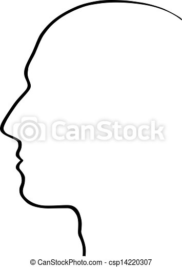 Vector Clipart of Human head csp14220307 - Search Clip Art ...