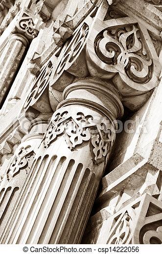 Ancient architectural details - csp14222056