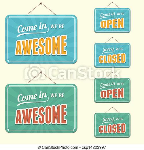 Open/Closed Sign - csp14223997