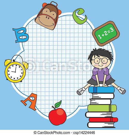 Education and school icon set - csp14224446