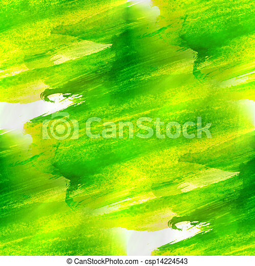 background green, yellow texture watercolor seamless abstract pattern paint art wallpaper color paper - csp14224543