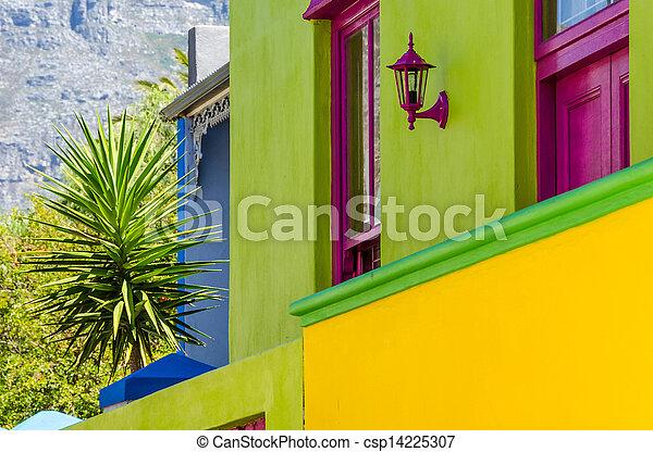 Bo Kaap, Cape Town 003-Detail - csp14225307