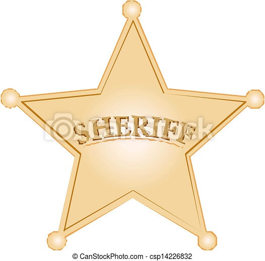 Vectors of Sheriff Star csp14226832 - Search Clip Art, Illustration ...