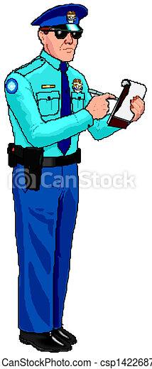 Police Officer - Parking Ticket - csp14226870