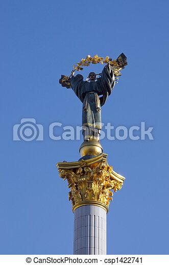 Sculpture as a symbol of Ukraine - csp1422741