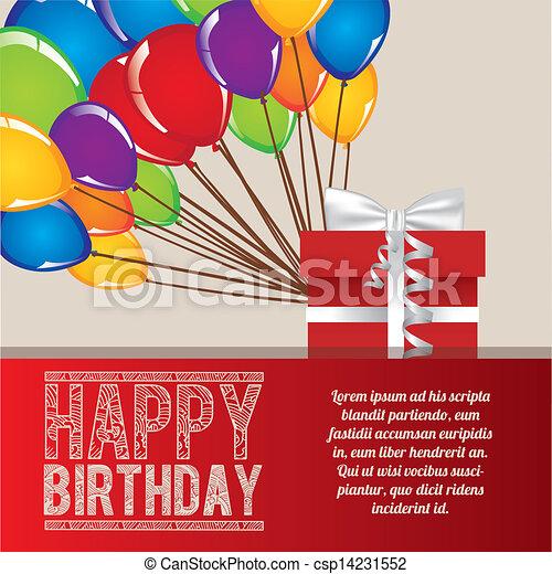 happy birthday  - csp14231552