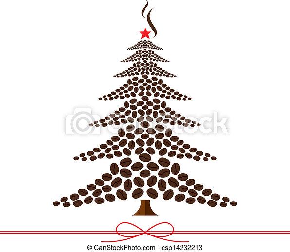 Coffee Bean Tree Drawing Christmas Tree Design