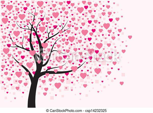 Vector Illustration Of Heart Tree Design Heart Tree
