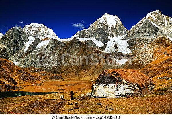 Peruvian mountain village - csp14232610