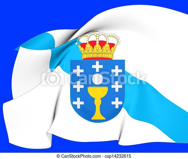 photographies de drapeau galice espagne fin haut csp14232615 recherchez des photos des. Black Bedroom Furniture Sets. Home Design Ideas